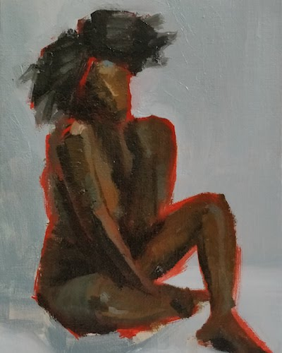 Seated figure study